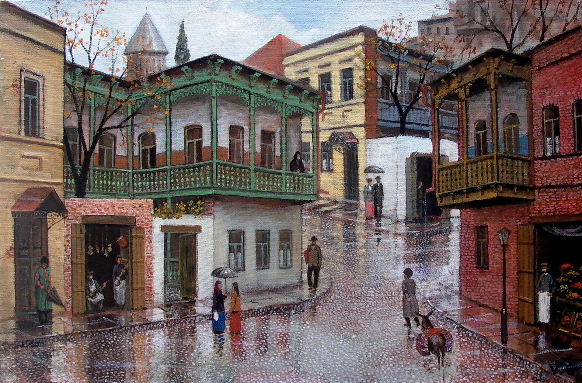 Арт грузинского художника Нико Пиросмани: Тбилиси