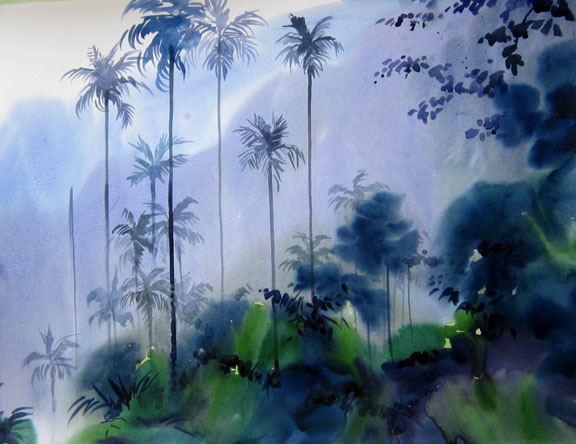Арт индийского художника-акварелиста Садху Алиюра
