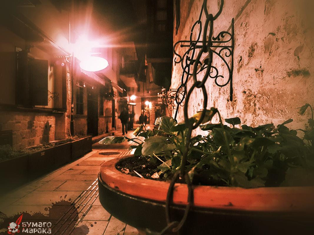 Прогулка по Калеичи в Анталии вечером