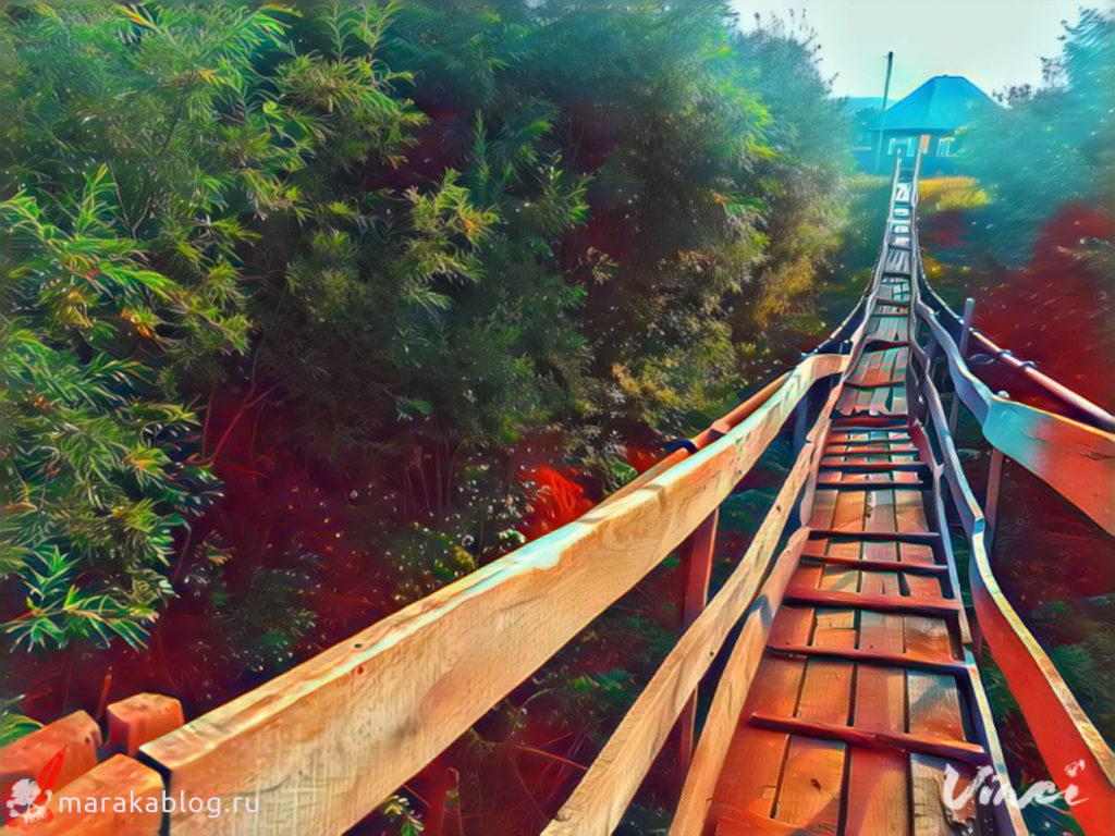 Фото: подвесной мост в Борисово